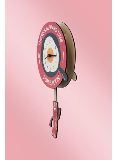 Peoples Clock Pastırma Zamanı Sallanan Sarkaçlı Çocuk Odası Duvar Saati Renkli